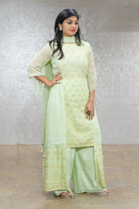 Picture of Elegant Georgette Palazzo Set