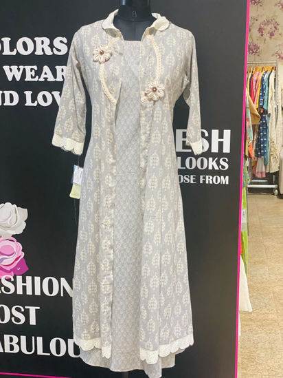 Picture of Long Straight Sleeveless Tunic With Jacket