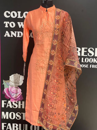 Picture of Long Worked Tunic With Dupatta