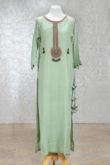 Picture of Pastel Green Silk Tunic