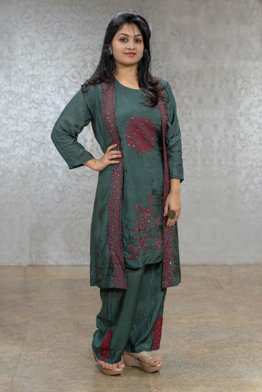 Picture of Smart Kurta Set With Jacket