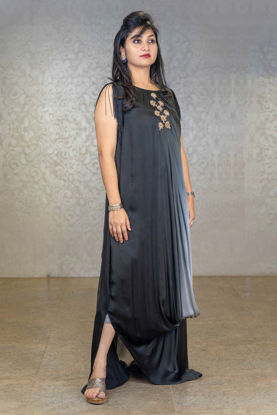 Picture of Indo-western Satin Silk Gown