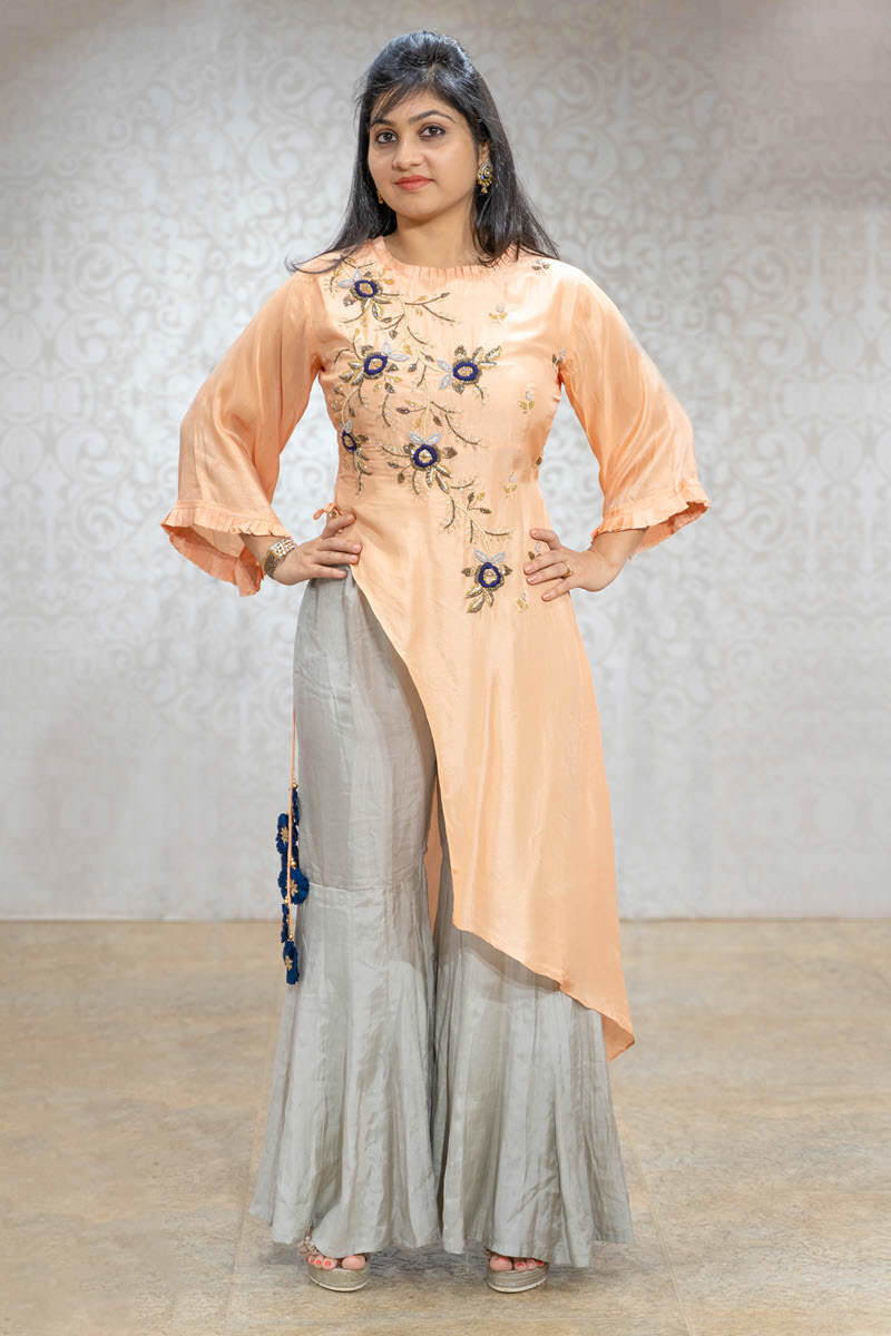 Picture of Pretty Peach Kurta With Sharara