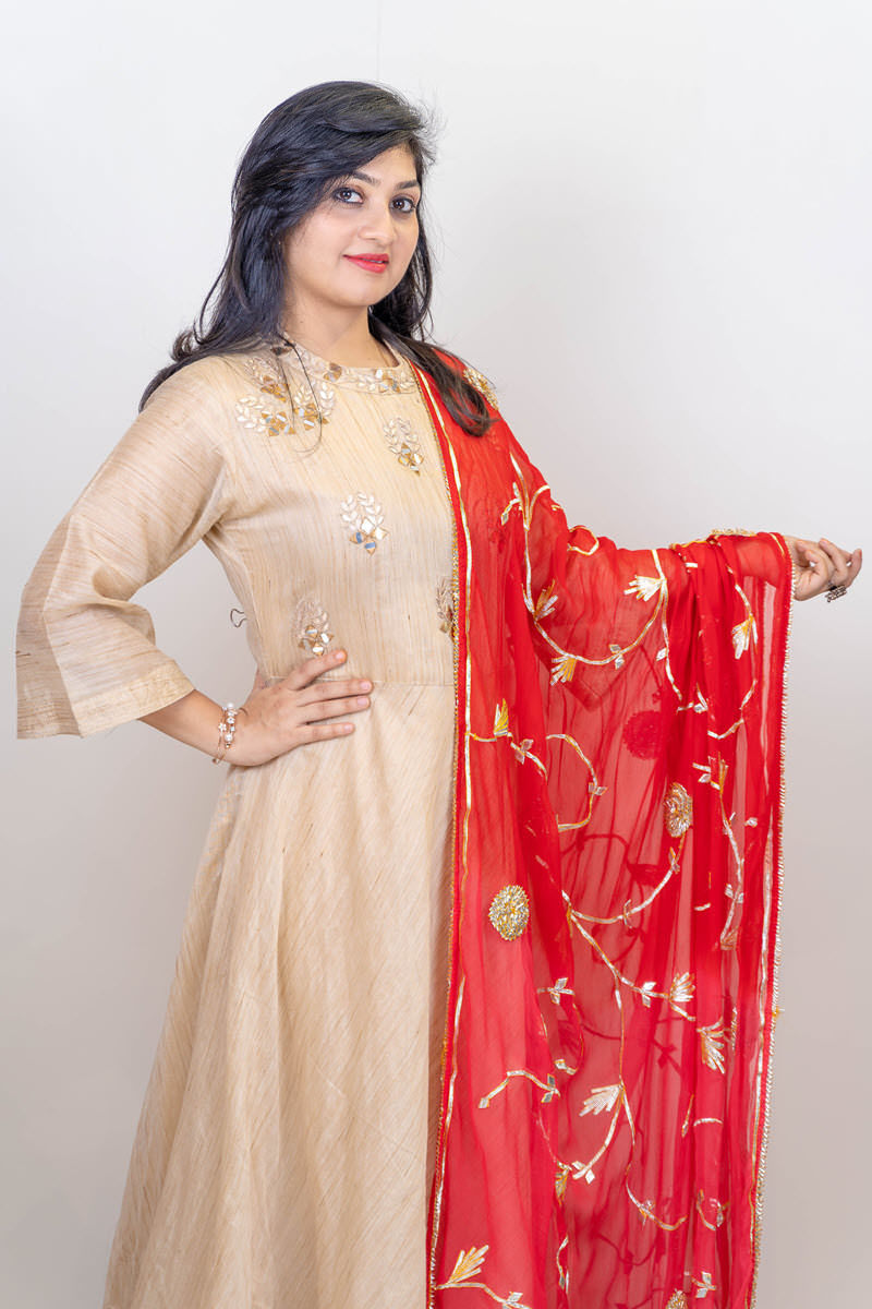 Picture of Anarkali Beige Suit