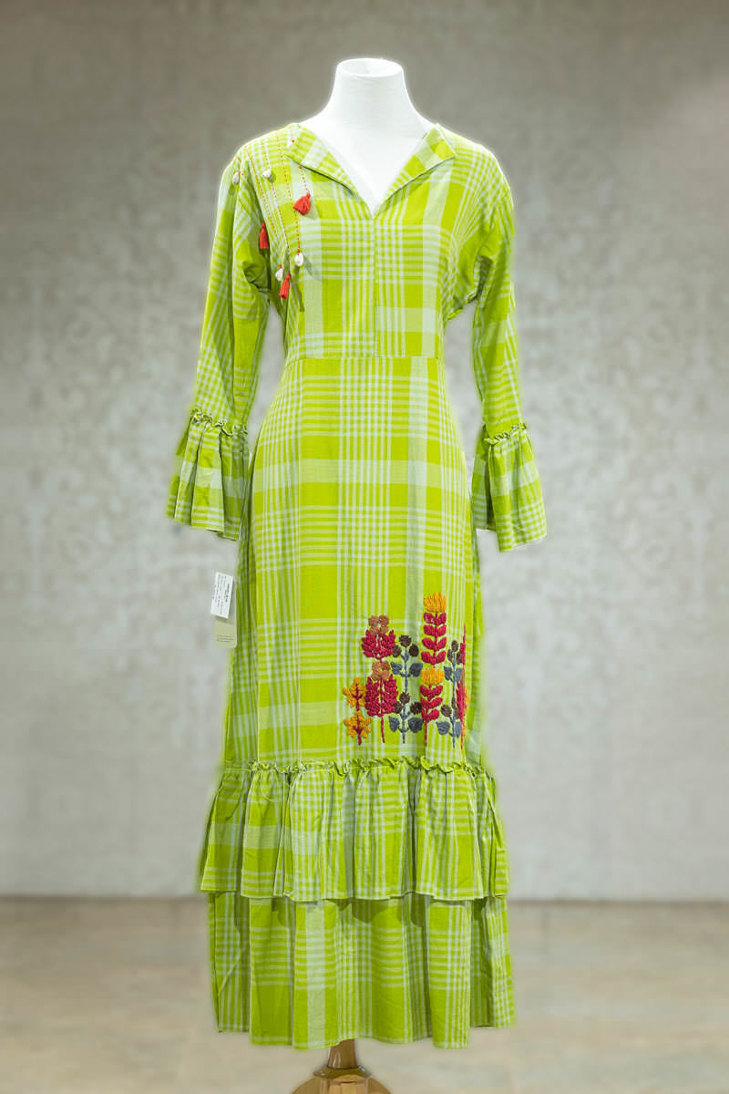 Picture of Checks Bright Green Tunic
