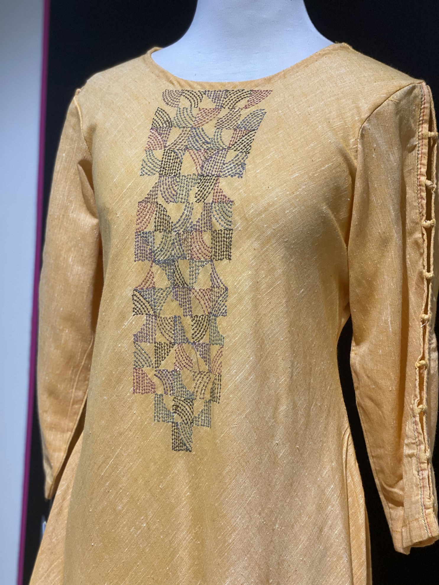 Picture of Long Linen Handloom Cotton Tunic