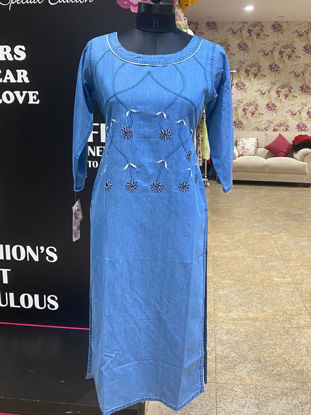 Picture of Soft Cotton Denim Tunic