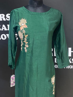 Picture of Long Green Straight Cut Tunic