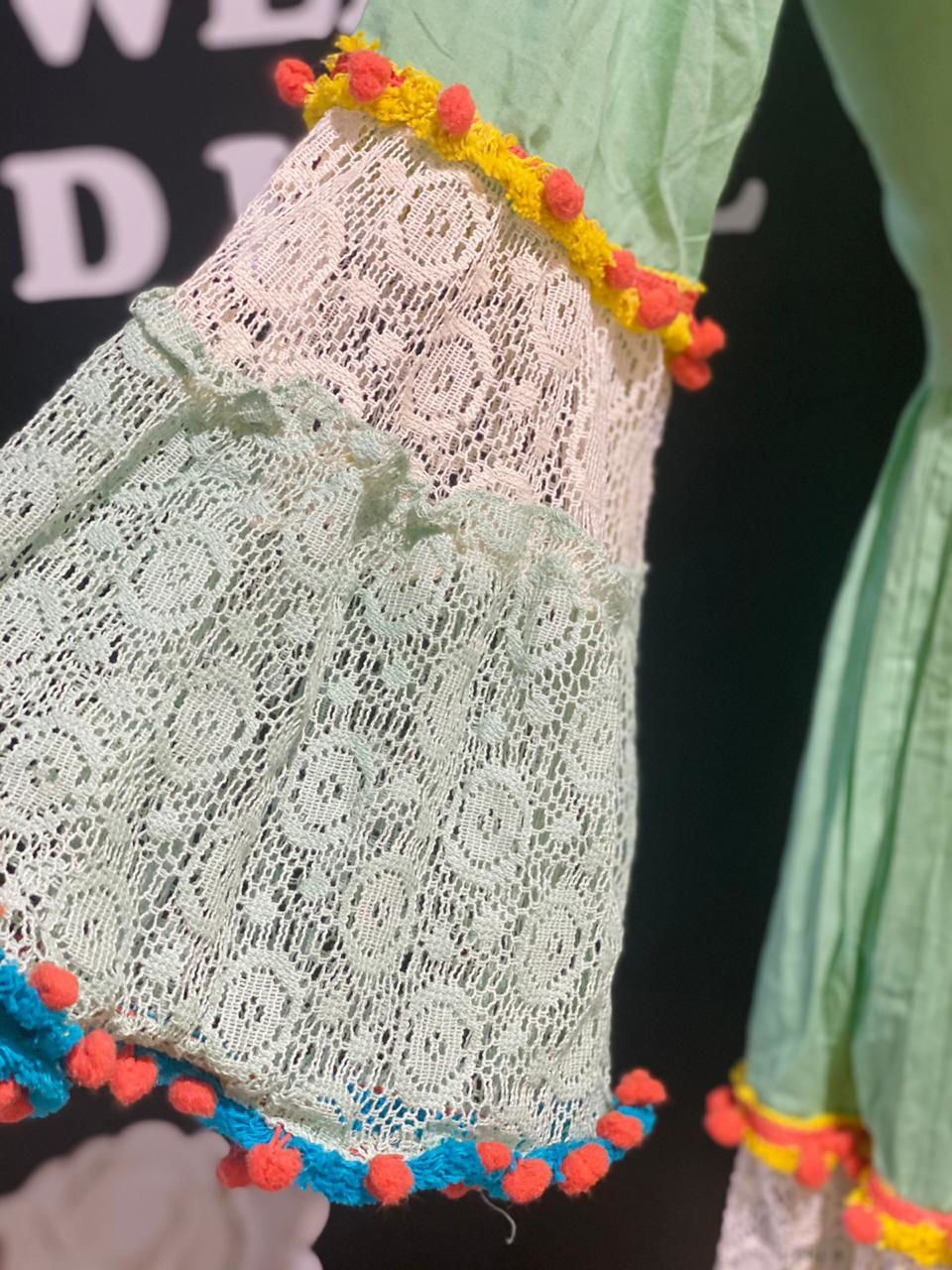 Picture of Short Cotton Crochet Tunic - Mint Green