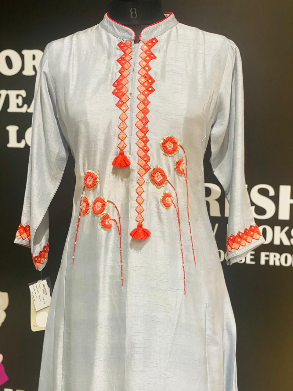 Picture of Long Floor Length Silk Tunic