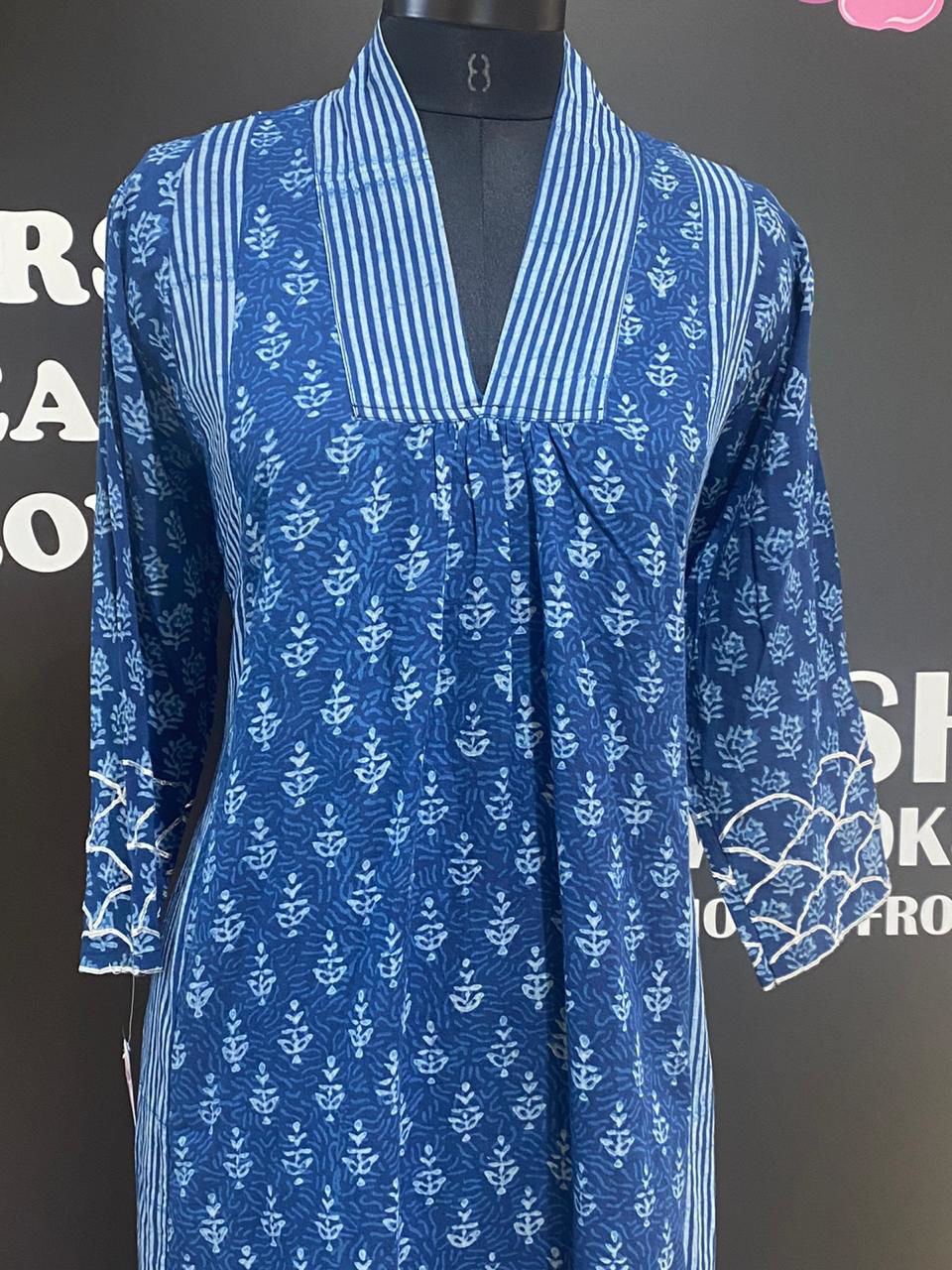 Picture of Long A line Indigo Tunic