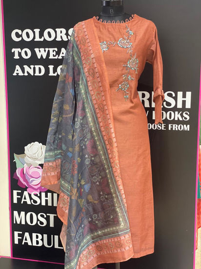 Picture of Long Tunic With Digital Dupatta