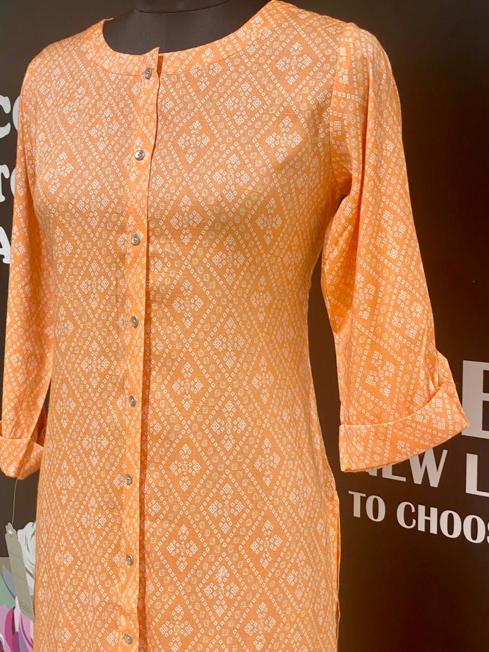 Picture of Printed Cotton Bandhni Tunic