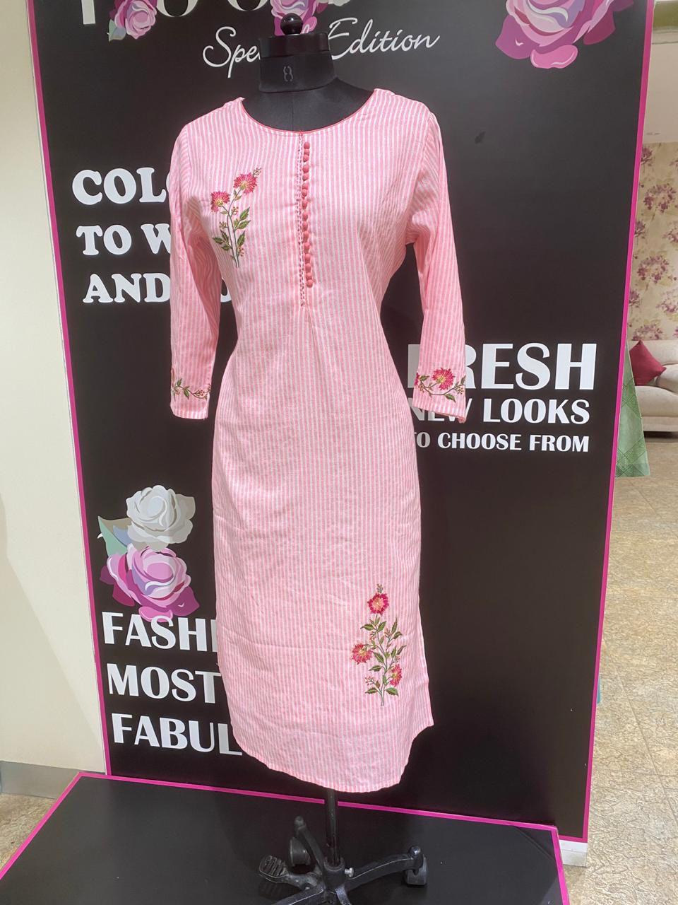 Picture of Straight Cut Tunic With Embroidery