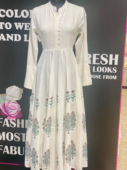 Picture of Floor Length Tunic Anarkali Style With Original Block Prints