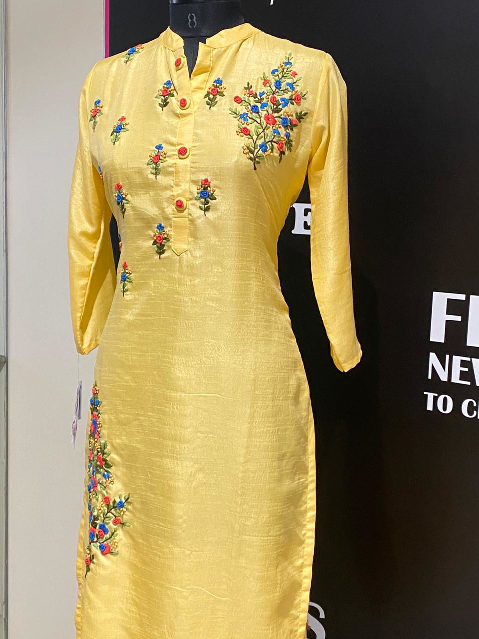 Picture of Soft Silk Tunic With Thread Embroidery