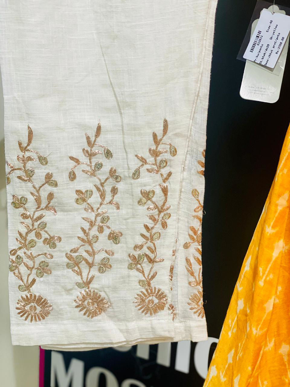 Picture of A Line Kurta In Soft Chanderi Silk And Pants