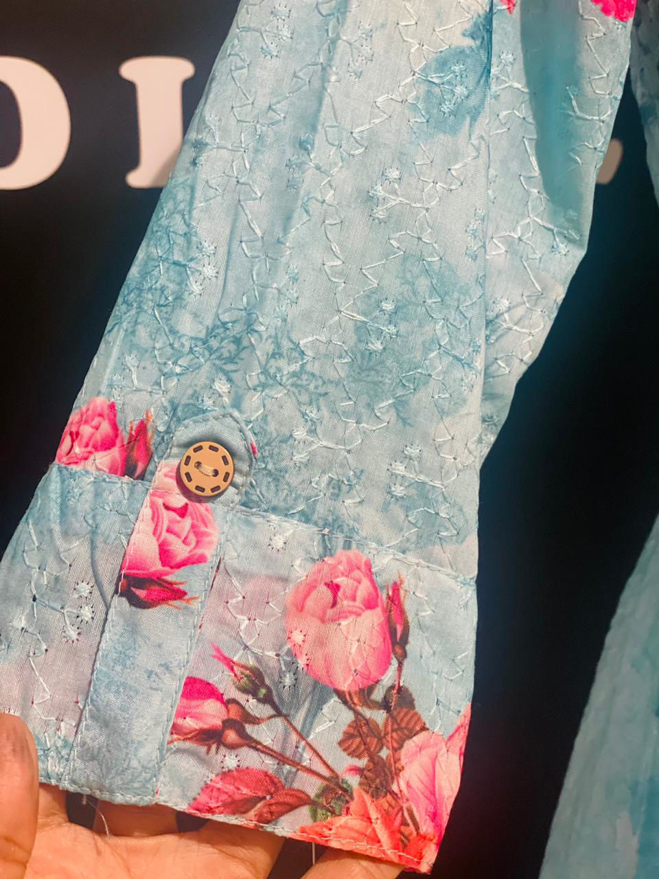 Picture of Long White Tunic With Floral Jacket