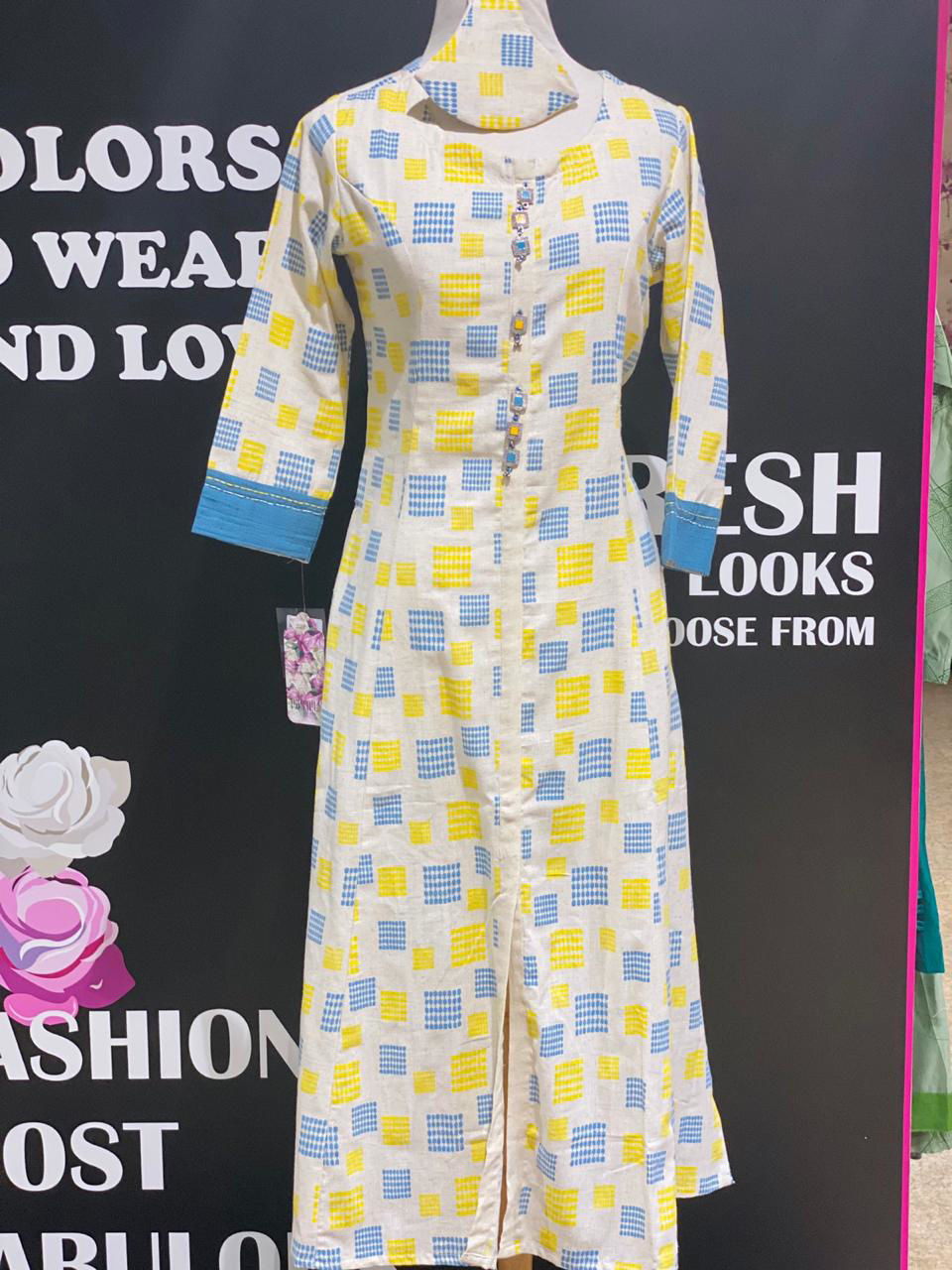 Picture of Pure Handloom Tunic With Button Detailing