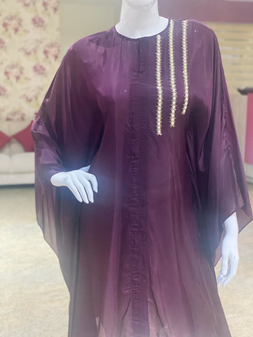 Picture of Kaftan Style Tunic With Silk Dhoti Pants
