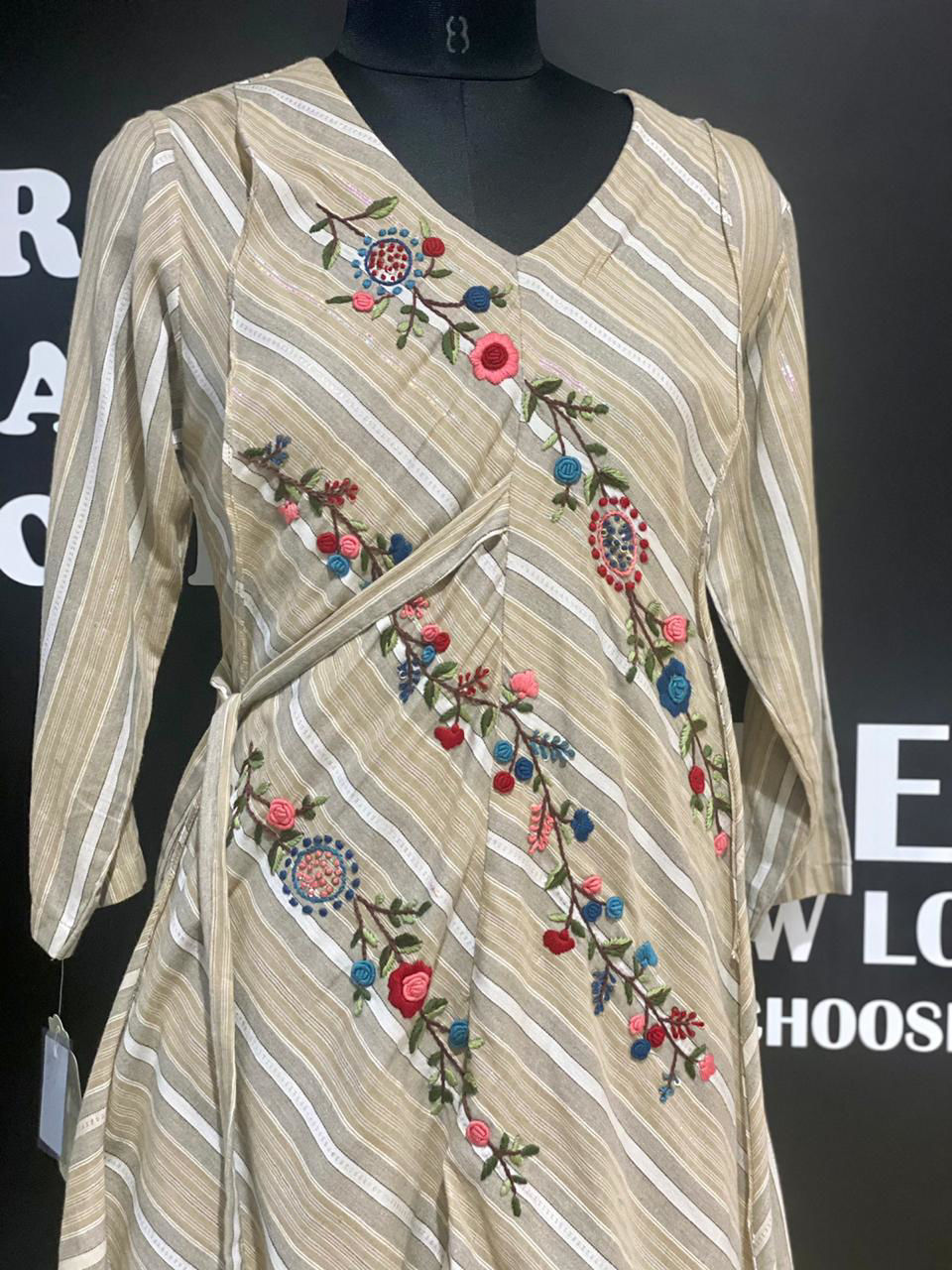 Picture of Cotton Tunic With Layers And Side Tie Knot Belt