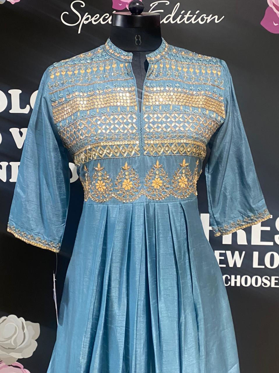 Picture of Soft Silk Designer Collections Long Cowl Tunic