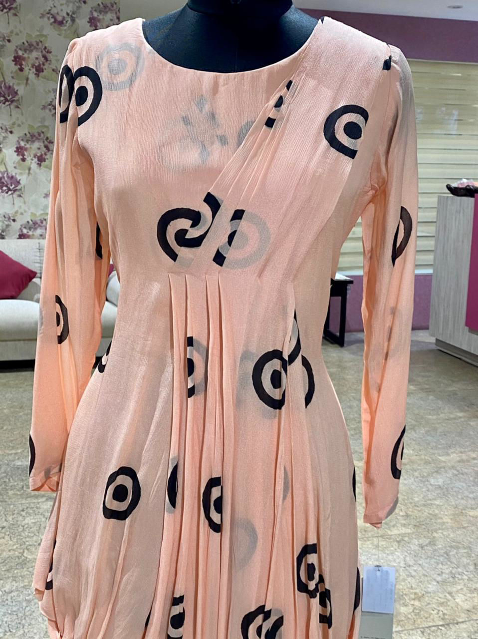 Picture of Drape Style Tunic With Masaba Prints