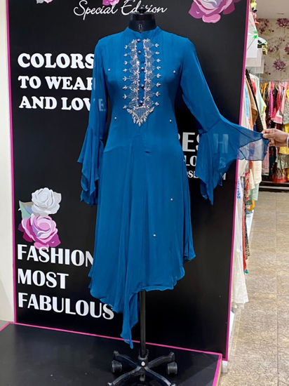 Picture of Indo-Western Tunic In Stylish Cuts With Hand Work