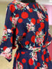 Picture of Smart one piece western style dress in soft Lycra fabric  Bright and bold floral print....easy to maintain fabric with stylish look