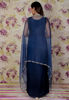 Picture of Silk gown with organza cape