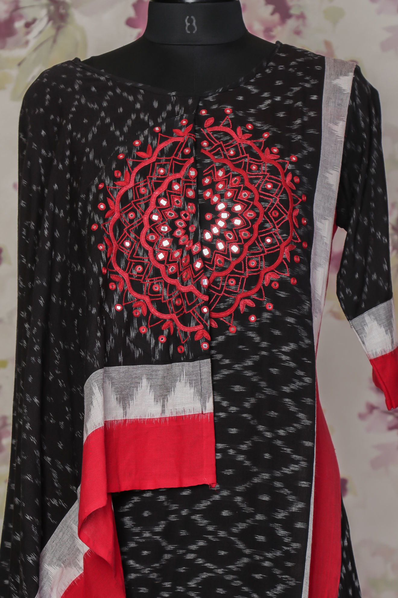 Picture of Mirror work ikkat tunic